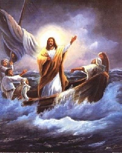 calming  sea jesus christ poster religious posters