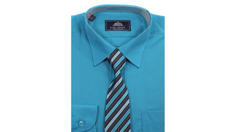 teal shirt and tie set