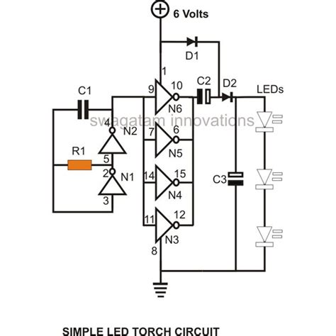 Rechargeable Led L Circuit Diagram by Led How Can I Increase The Multiplier Of A Voltage