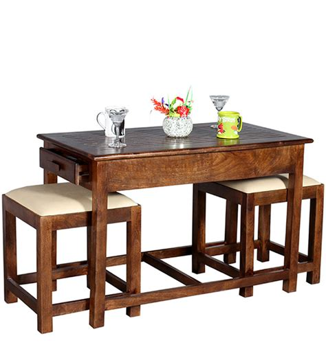 Coffee Table With Two Stools by Teresina Coffee Table With Two Stools In Honey Oak Finish