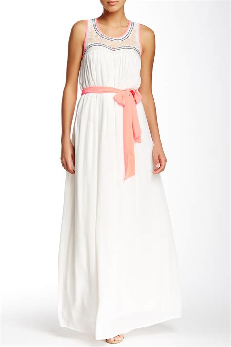 Maxi Strawberry chagne strawberry embroidery maxi dress nordstrom