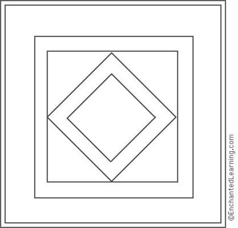 coloring pages of quilt blocks amish quilt diamond center coloring page