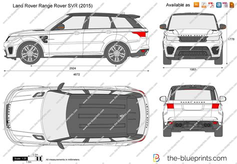 land rover drawing land rover range rover svr vector drawing