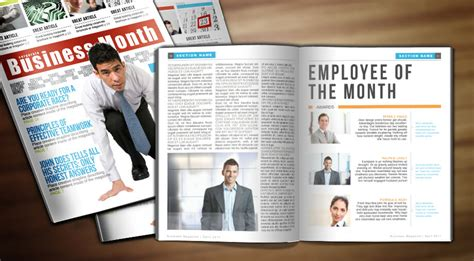 corporate magazine template business week indesign magazine template