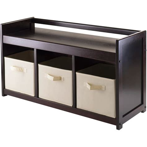 storage bench walmart addison entryway storage bench with 3 baskets espresso