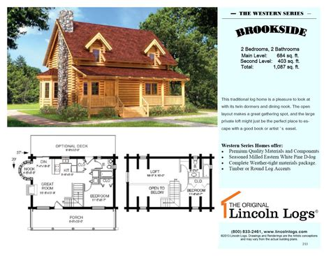 log home floorplan brookside i the original lincoln logs