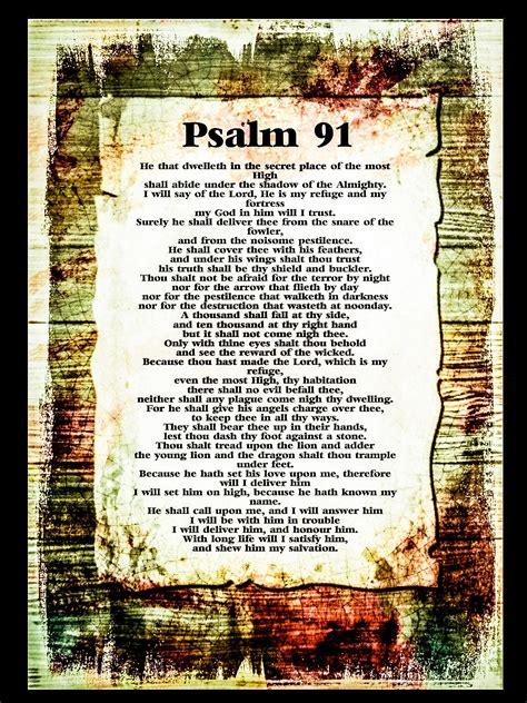 printable version psalm 91 psalm 91 poster kjv printable unique psalm 91 prayer card