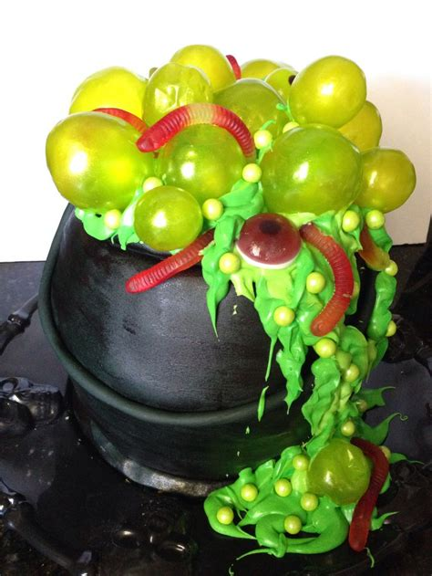 halloween cauldron cake  gelatin bubbles halloween cupcake cakes halloween cakes