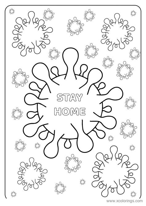 Covid-19 Coloring Pages - XColorings