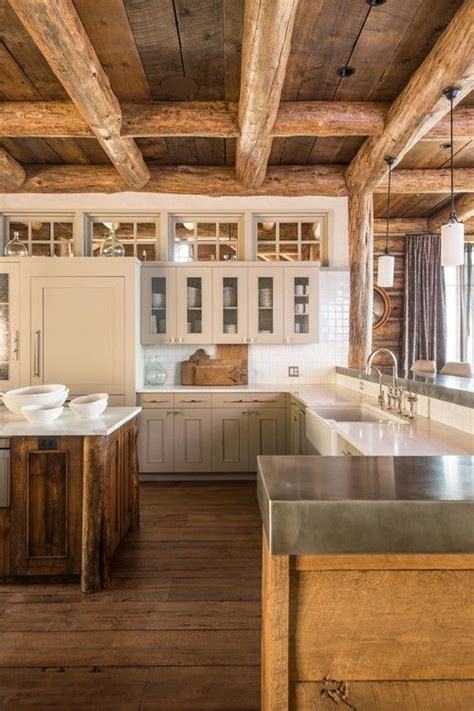 rustic cedar kitchen cabinets 54 best log homes painted images on pinterest