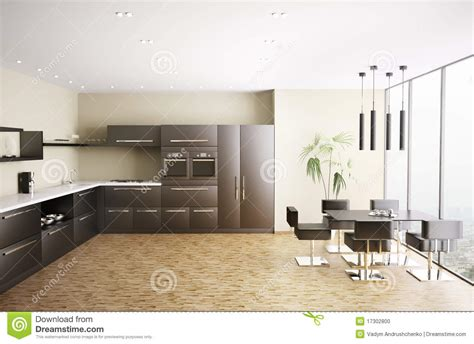 modern kitchen interior 3d rendering modern kitchen interior 3d render stock photo image