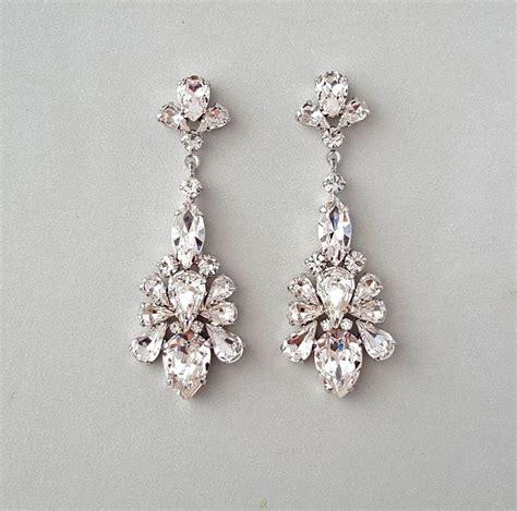 Ohrringe Hochzeit Vintage by Caprice Bridal Earrings Chandelier Earrings Wedding