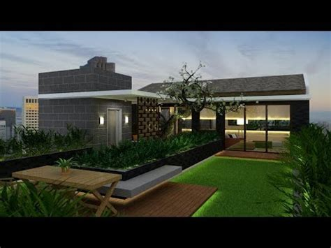 rooftop garden design build  google sketchup vray