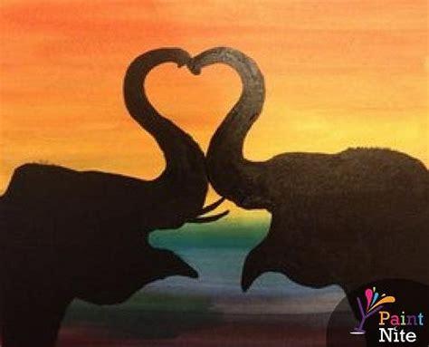 paint nite elephant paint nite elephant silhouette