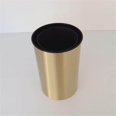 decorative wastebasket satin brass decorative wastebasket with metal liner prestige