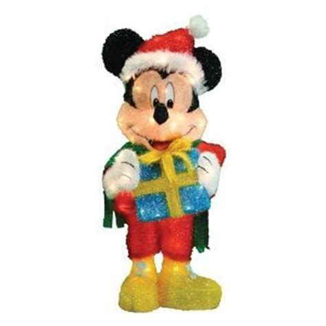 mickey mouse outdoor l post yard stores disney 32 quot mickey mouse w santa