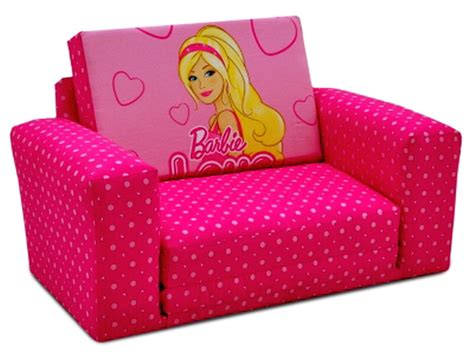 barbie sofa bed new girls pink barbie fold out seat sleepover sofa bed