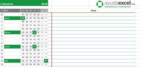 calendario 2018 excel ev71 ivango