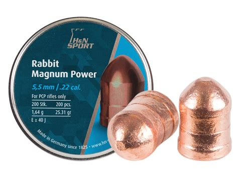 Rabbit Magnum Cal 22 h n rabbit magnum power cylindrical pellets 22 cal 25