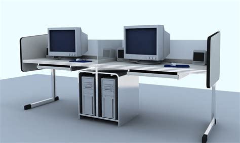 office furniture 001 desks 3d model free
