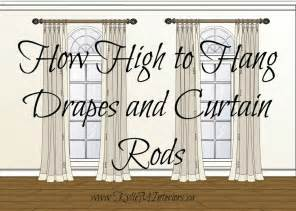 how high to hang a picture on a wall how high to hang drapes rods and other curtain questions