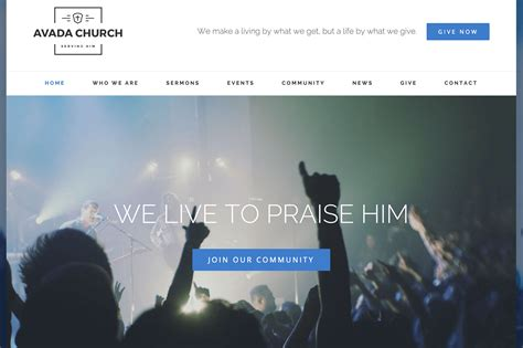 avada elegant themes how to build a church website with wordpress elegant