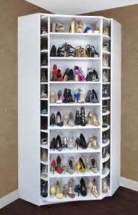 shoe storage idea gt lazy susan a revolving system where