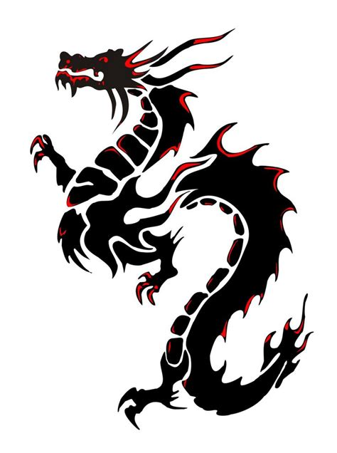 chinese dragon tribal tattoo 25 best ideas about on