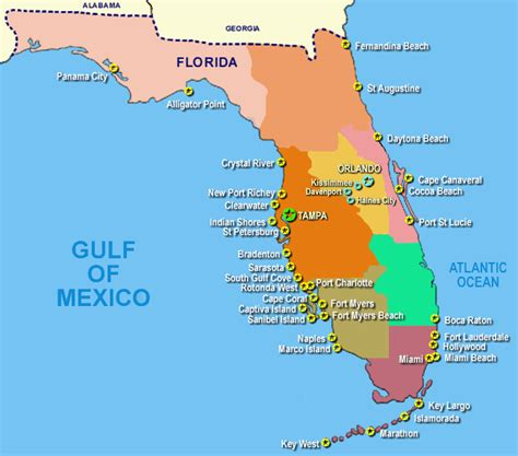 map of mexico florida map of florida gulf coast mexico