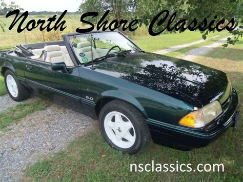 1990 25th anniversary mustang 1990 ford mustang lx 25th anniversary 7 up edition stock