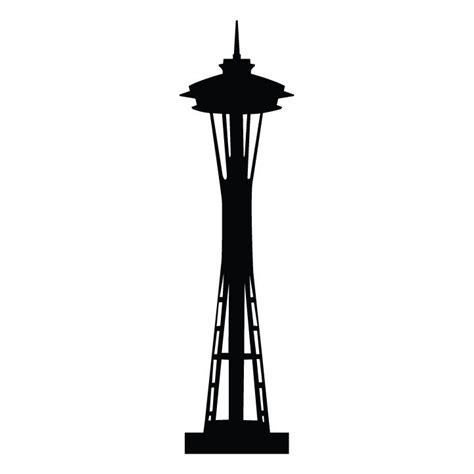 Boy Bedroom Wall Stickers seattle space needle silhouette art docent pinterest