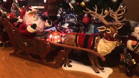 christmas cordation creation animated reindeer santa in sleigh
