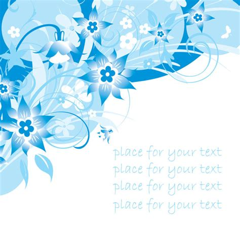 wallpaper biru muda bunga palabras clave simples azules pintado a mano flores