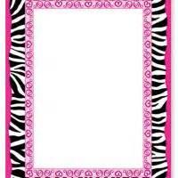 printable zebra borders invitations free zebra print border clipart best