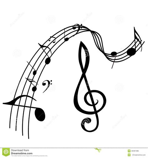 music notes design stock vector image 49497385