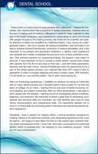 Dental School Essay by Dental School Personal Statement Writing Service