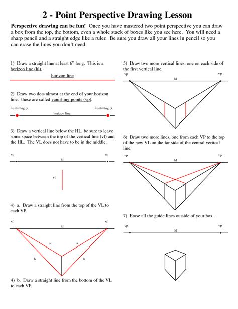 Drawing 2 Point Perspective From Plan 2 point perspective lesson plan template point