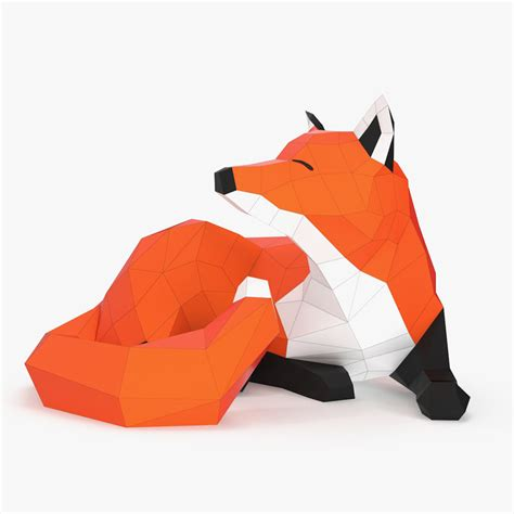 Papercraft Files - 3d obj paper fox