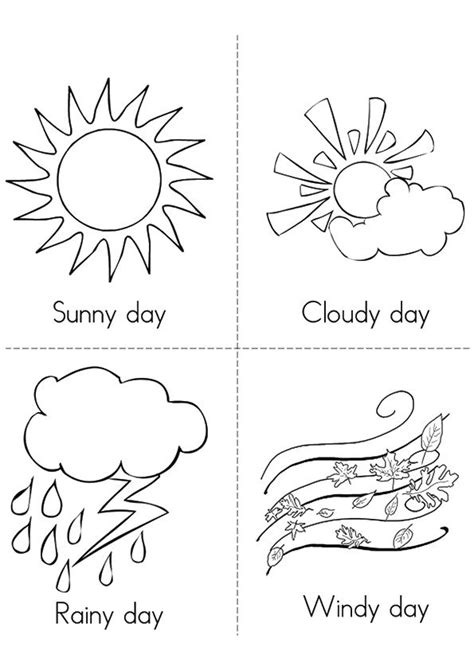 printable coloring pages weather 11 best weather images on preschool weather