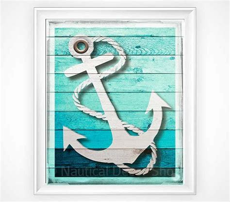 printable anchor wall art 7 unique wall decorations for your beach houses beach
