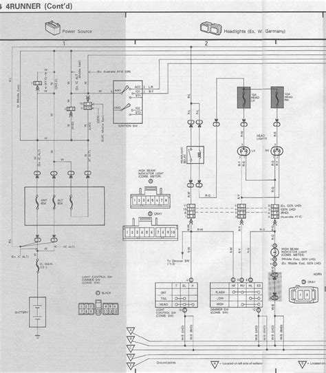 toyota surf wiring wiring diagram with description
