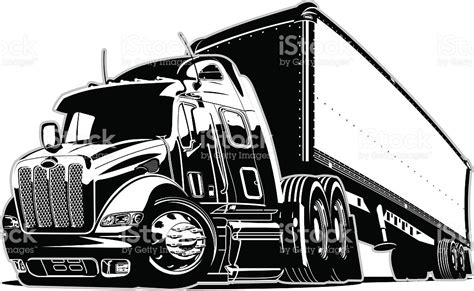 cartoon semi truck stock vector art amp more images of 2015