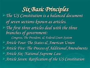 what are the three sections of the constitution lesson plan four government 2