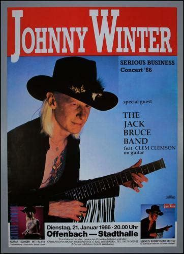 johnny winter poster ebay