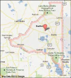 map of starke florida transportation in bradford county florida