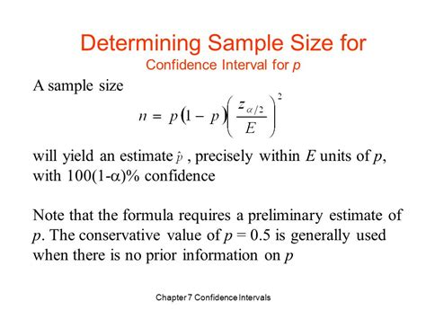 No Credit Interval Formula Chapter 7 Confidence Intervals 置信区间 Ppt