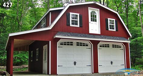 Gambrel Roof Garages by 2 Car 2 Story Garage Two Story Garage Horizon Structures