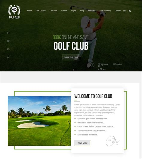 bootstrap themes free golf 15 best golf wordpress themes for golf courses golf