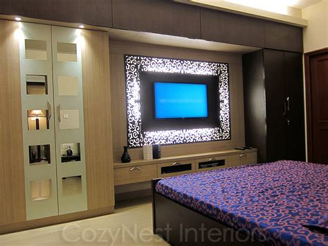 bedroom wardrobe designs with tv unit 2 dormitorio