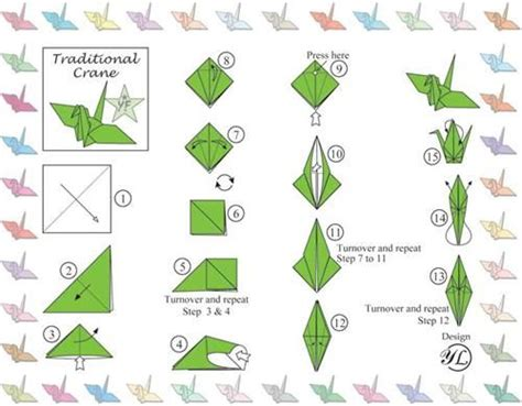 Origami Crane How To - traditional origami crane 1 tales